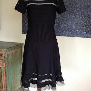 Tadashi Black Fit & Flare Elegant Dress